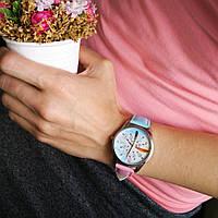 "Часы ZIZ маст-хэв ""Перья"" (розово-голубой, серебро) 1414616"