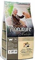 Pronature Holistic (Пронатюр Холистик) Cat OCEANIC WHITE FISH and WILD RICE - корм для кошек от 10 лет, 5.44кг