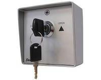 Выключатель кнопка -ключ SWM металлический