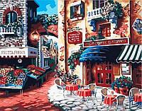 Раскраска по номерам без коробки Идейка Итальянская улица Вкус Италии (KHO078) 40 х 50 см