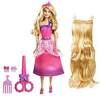 """Кукла Барби блондинка, серия """"Сказочно длинные волосы"""" крутая стрижка Barbie"""