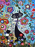 Картина по номерам без коробки Идейка Волшебный кот (KHO2442) 30 х 40 см (Без коробки)