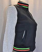 Детская куртка бомбер 134, Темно-синий с серым меланжем