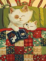 Картина раскраска по номерам без коробки Идейка Сказка на ночь (KHO2457) 30 х 40 см (Без коробки)
