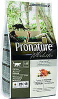 Pronature Holistic Cat Adult Turkey & Cranberries 2.72 кг - сухой холистик корм для котов (индейка/клюква)