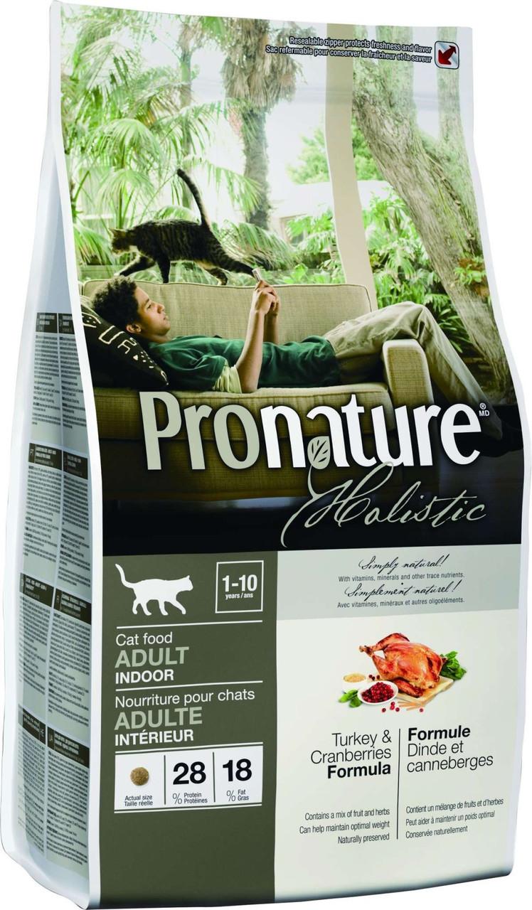 Pronature Holistic Cat Adult Turkey & Cranberries 340 г - сухой холистик корм для котов (индейка/клюква)
