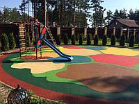 Покрытие из резиновой крошки для детской площадки, толщина 20 мм