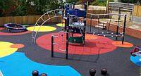 Безопасное резиновое покрытие для детской площадки, толщина 40 мм