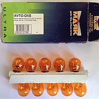 Лампа поворотов a12-21w s25 12v bau15s orange ultra арт. 81218orange.Маяк
