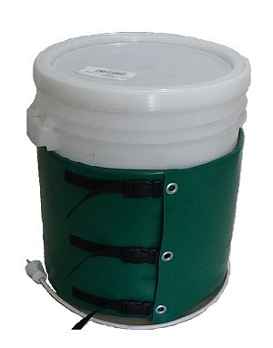 Декристаллизатор, роспуск мёда в ведре 40 л. Разогрев до + 40°С.