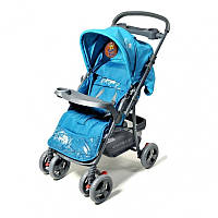 Прогулочная коляска Baby Tilly BT-WS-0001 blue с перекидной ручкой