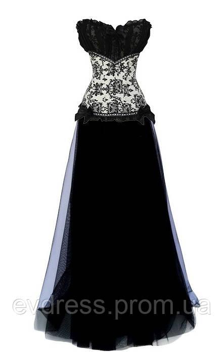 9d20ae7f72802d7 DL-88379 Бело-черное вечернее платье костюм с корсетом на Новый год -  Интернет