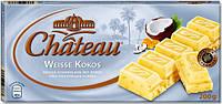 Шоколад Chateau Weisse Kokos (Шато кукурузные хлопья и кокос) 200 г. Германия