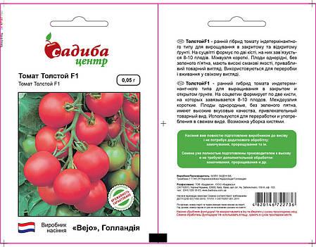 Семена томата Толстой F1 (Bejo/САДЫБА ЦЕНТР) 0,05 г — ранний (70-72 дня), красный, индетерминантный., фото 2