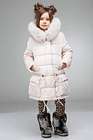 Детская курточка с  двойной песцовой опушкой
