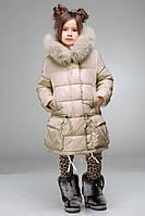 Теплая курточка на синтепухе пастельного тона