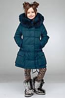 Оригинальная зимняя куртка с накладными карманами