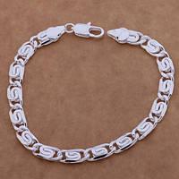 Браслет плетение улитка 925 серебро проба