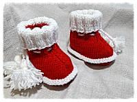 Пинетки  детские новогодние для фото сесии.
