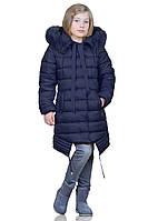 Зимняя курточка Китти темно-синего цвета