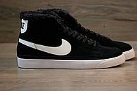 Кроссовки Nike Blazer High Winter Black (С мехом) мужские