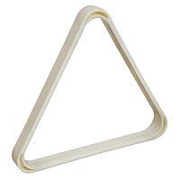 Пластиковый белый треугольник для бильярдных шаров 68 мм