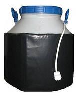 Декристаллизатор, роспуск мёда в пластиковой ёмкости 40л. Разогрев до + 40°С.