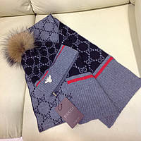 Шапка шарф комплект Gucci гуччи