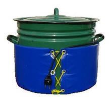 Декристаллизатор, розпуск меду в каструлі 40 л. Розігрів до + 40°С.