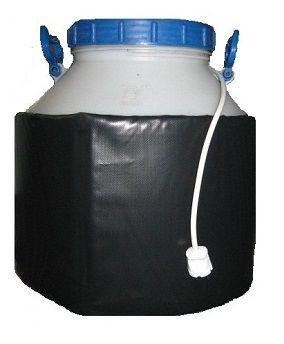 Декристаллизатор, роспуск мёда в пластиковой ёмкости 50 л. Разогрев до + 40°С.