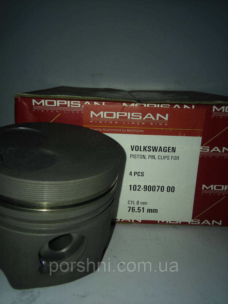 Поршні VOLKSWAGEN 1.6-2,0-2,4 TD ( 1.75 x 2 x 3 ) діам 76.5 Mopisan 900700