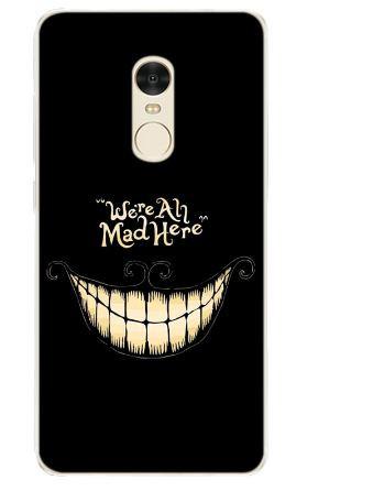Силіконовий чохол панель накладка для Xiaomi Redmi Note 4 з картинкою Посмішка