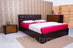 Двуспальная кровать с мягкой спинкой и подъемным механизмом Милена