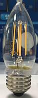 Лампа светодиодная С35 (свеча) filament Е27 5 Вт. прозрачная