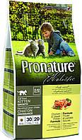 Pronature Holistic Kitten Chicken & Sweet Potato 5,44 кг - cухой холистик корм для котят (курица/батат)