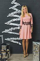 Нарядное женское платье персик, фото 1