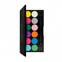 Sleek I-Divine Palette Ultra Mattes V1 Brights - Палетка теней для век, 12*1.1 г