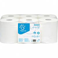 Бумажные полотенца рулонные без перфорации для автоматического диспенсера. IMB-403829