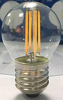 Лампа светодиодная филамент (Filament) G45 E27, 3.6 Вт. прозрачная