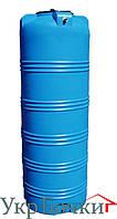 Емкость пластиковая для воды 750 литров, вертикальный бак синий