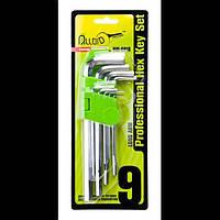 Alloid. Набор ключей шестигранных, изогнутых удлиненных . 9 пр. 1,5-10 мм.