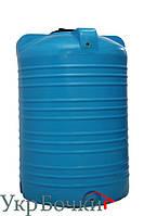 Емкость пластиковая для воды 1000 литров, вертикальный бак синий