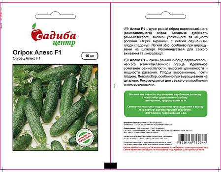 Семена огурца Алекс F1 (Бейо/Bejo, САДЫБА ЦЕНТР), 10 семян — ультраранний гибрид, партенокарпик, фото 2