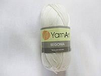 Пряжа Бегонія Begonia YarnArt 100% бавовна натуральний№ 3000