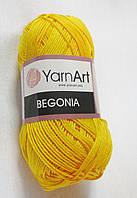 Пряжа Бегония Begonia YarnArt 100% хлопок жовта №5307 Нитки для вязания хлопковые х/б