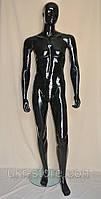 Манекен мужской лакированный чёрный