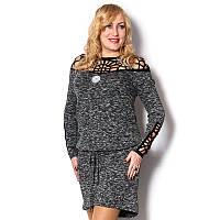 Женское платье-туника большого размера вечернее