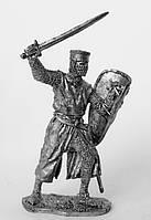 Оловянная фигура. Рыцарь Тевтонского Ордена. Восточная Пруссия 13 в.
