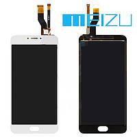 Дисплейный модуль (дисплей + сенсор) для Meizu M3 Note (версия M), белый, оригинал