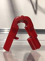 Стоплок на крючок червоний 6 мм.